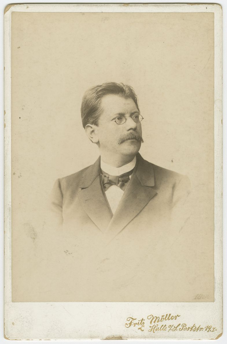 Porträtaufnahme von Hugo Gaudig, ca. 1897