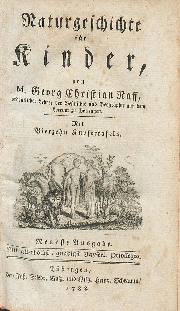 Titelblatt: Raff: Naturgeschichte für Kinder